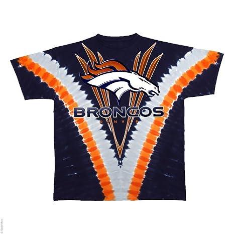 Amazon.com   Denver Broncos Logo V Tie Dye T-shirt   Athletic T ... f7d39f47f