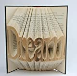 Folded Book Art - Unique Personalized Gift - Your Name Here - Birthday Gift - Baby Gift - Altered Book - Custom Made Art