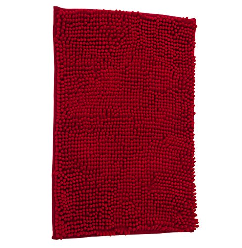 Velvet Hot Tub - Adasmile Soft Shaggy Non slip Microfiber Bath Mat Bathroom Mats Shower Rugs Carpet for Tub,Shower,Textured Tub,Surface,Floor,Shower Stall,Red,15.74
