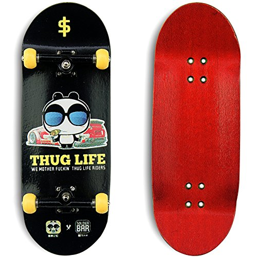 Price comparison product image FAN Team Soldierbar 9 Wooden Fingerboards (Deck,Truck,Wheel Set)Thug Life