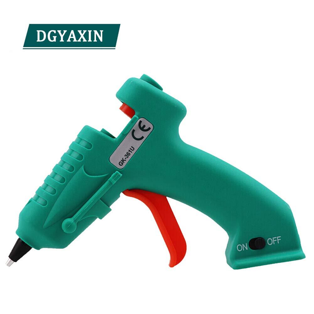 Portable Hot Glue Gun GK-351U, 8-Watt Mini Cordless Hot Glue Gun, USB Rechargeable with Flexible Trigger, for Arts and Crafts Home Quick Repairs DIY Crafts Creative Arts,Green