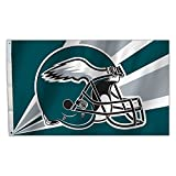 Fremont Die NFL Philadelphia Eagles 3-by-5 Foot Helmet Flag