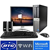 Dell OptiPlex 960 Desktop Core 2 Duo 2.9GHz Processor 4GB Ram 320GB Hard Drive Windows 10 Home 19in Monitor, Keyboard, Mouse, Speakers, WiFi Adapter Computer Package