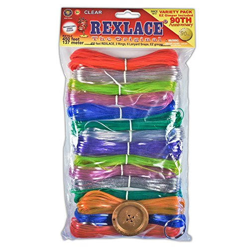 Pepperell Rexlace Cord 450 FT 2 Rings 6 lanyard Snaps EZ Gimper Beading line Kit -