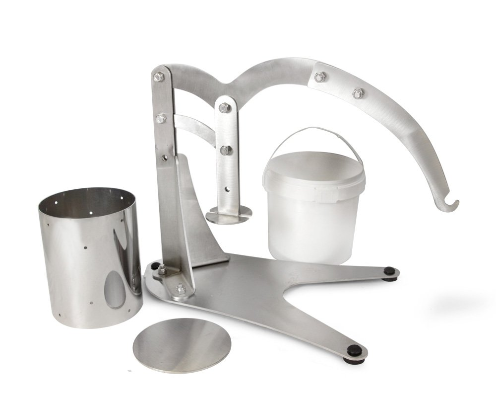 TSM Stainless Steel Dutch Style Cheese Press, USA Made