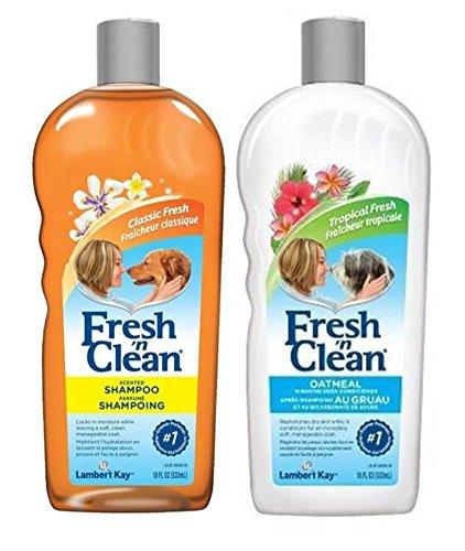 Fresh 'N Clean Classic Shampoo and Oatmeal Conditioner Bundle: (1) Classic Fresh Scented Shampoo, and (1) Classic Tropical Fresh Oatmeal 'n Baking Soda Conditioner, 18 Oz. Ea. (Kay Oatmeal Lambert)
