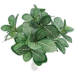 Crt Gucy Artificial Shrubs, 2pcs Artificial Plants Silk Greenery Leaves Tropical Grass Fake Plants For Decoration Green