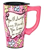 Spoontiques Friend Travel Mug, Pink
