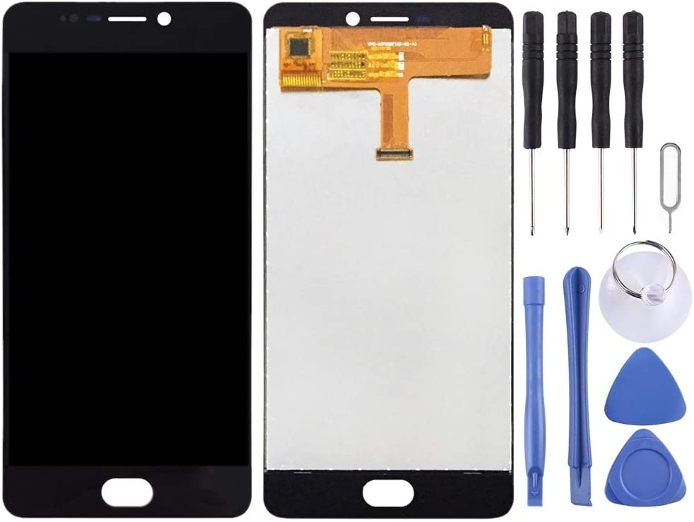 2017 LCD Screen Mobile Phone and Digitizer Full Assembly for Elephone P8 Black Color : Black
