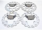 Yamaha YFM 550 Grizzly Front and Rear Brakes Brake Pads and Sport Brake Rotors