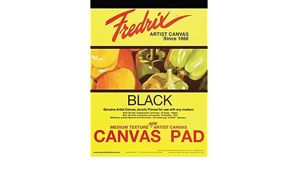 TARA//FREDRIX 35021 BLACK REAL CANVAS PAD 10 SHEETS 16X20