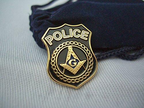 Police Hat Pin (New FREEMASON SECURITY Masonic Police Shield HAT TIE OR LAPEL)