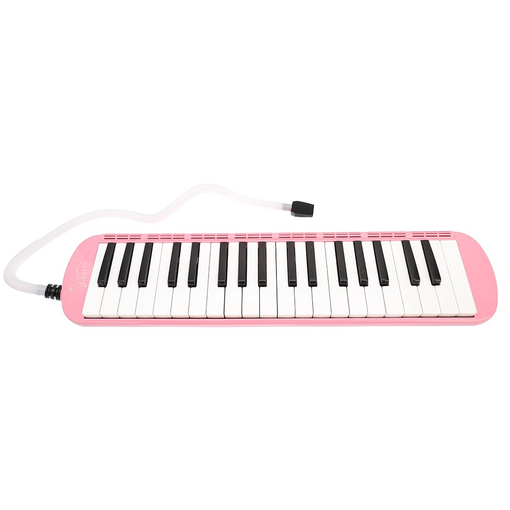 Glarry 37-Key Melodica with Mouthpiece & Hose & Bag Pink by funning (Image #4)