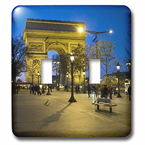 (3dRose lsp_81424_2 Arch of Triumph, Paris, France EU09 DBN0547 David Barnes Double Toggle Switch)