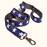Earthdog 6' Hemp Dog Leash in Star Pattern (Blue)