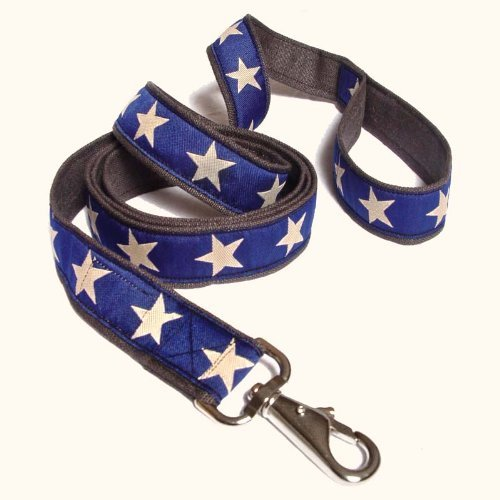 Earthdog 6' Hemp Dog Leash in Star Pattern (Blue)
