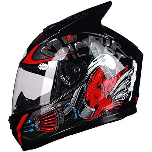 LIXIAOHONGG Motorhelm ECE, Scooter Motorfiets Crash Modulaire Helm, Dames Met Zonneklep Kamer Voor Bluetooth…