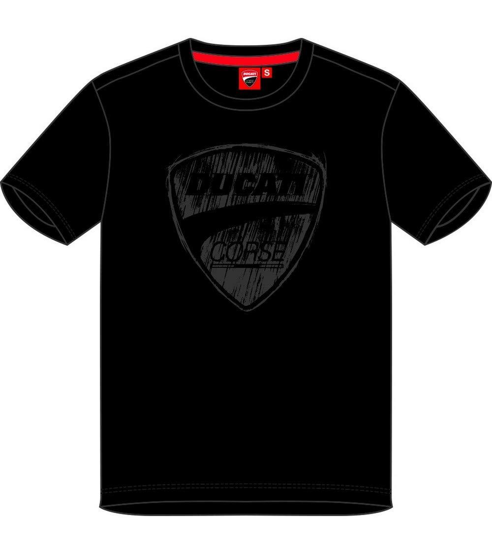 Officiel 2019 Medium Ducati T-Shirt Noir Homme Logo