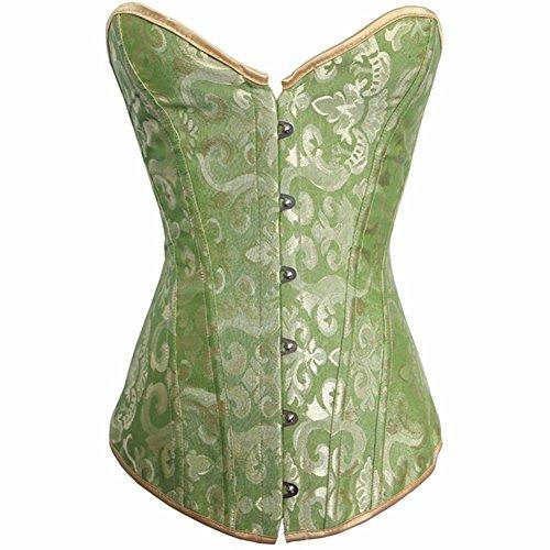 Yall Abdomen Apretado Corset Cintura Formación Novia Vestido De Novia Ropa Interior Green