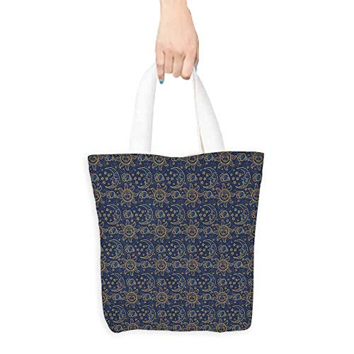 - Sun Tote Doodle Style Star Motif with Stripes and Curved Lines Vintage Hand Drawn Sky boutique 16.5