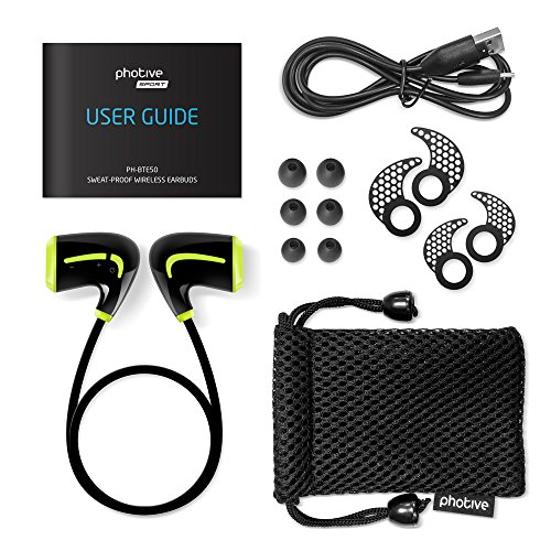 photive ph bte50 bluetooth 4 0 wireless sports headphones with built in microphone in the uae. Black Bedroom Furniture Sets. Home Design Ideas
