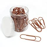 Paper Clips, Large x50 | for School, Office, Bullet Journaling and Craft Supplies | Metal Wire Strong Paperclips by Elmina