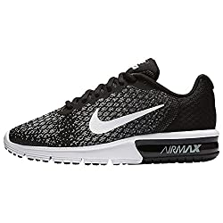 Nike Women's Air Max Sequent 2 Blackwhitedark Grey Running Shoe 8.5 Women Us