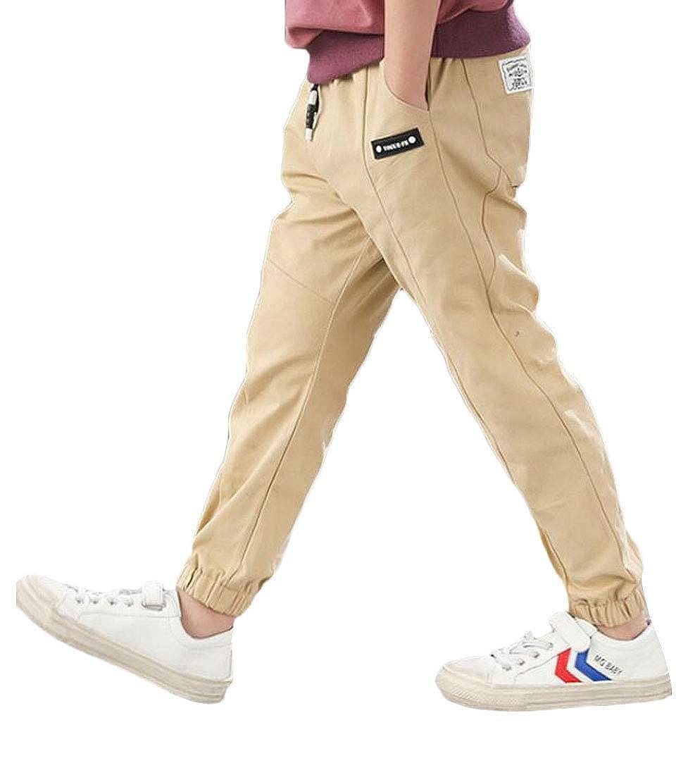 YULEgowinner Boys Fashion Solid Color Slim Cute Simple Jogging Pants