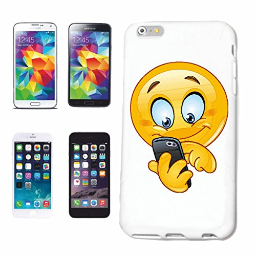 "cas de téléphone iPhone 7 ""sourire de EMOTICON de MERRY SMILEY LE MESSAGE WRITE ""SMILEYS SMILIES ANDROID IPHONE EMOTICONS IOS APP"" Hard Case Cover Téléphone Covers Smart Cover pour Apple iPhone en bla"