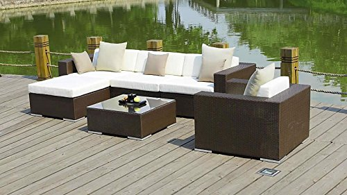 talfa rattan gartenm bel set big mesa braun g nstig kaufen. Black Bedroom Furniture Sets. Home Design Ideas