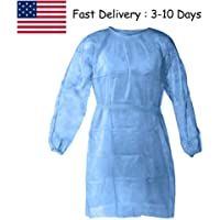 Centory (10/20/30/40PC) Disposable Gown,Protective Suit,Isolation Gowns,Disposable Isolation Clothing (20PC, Blue) (10PC, Blue)