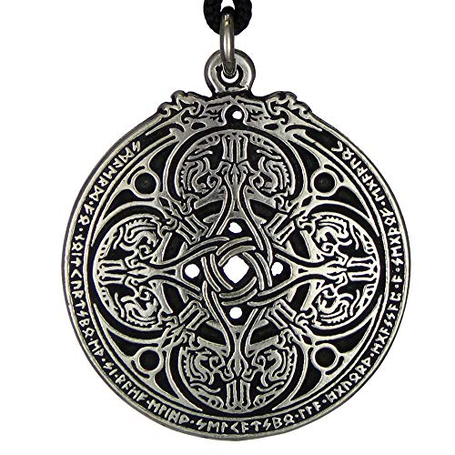 Dragon Shield Celtic Knot Pendant Talisman for...