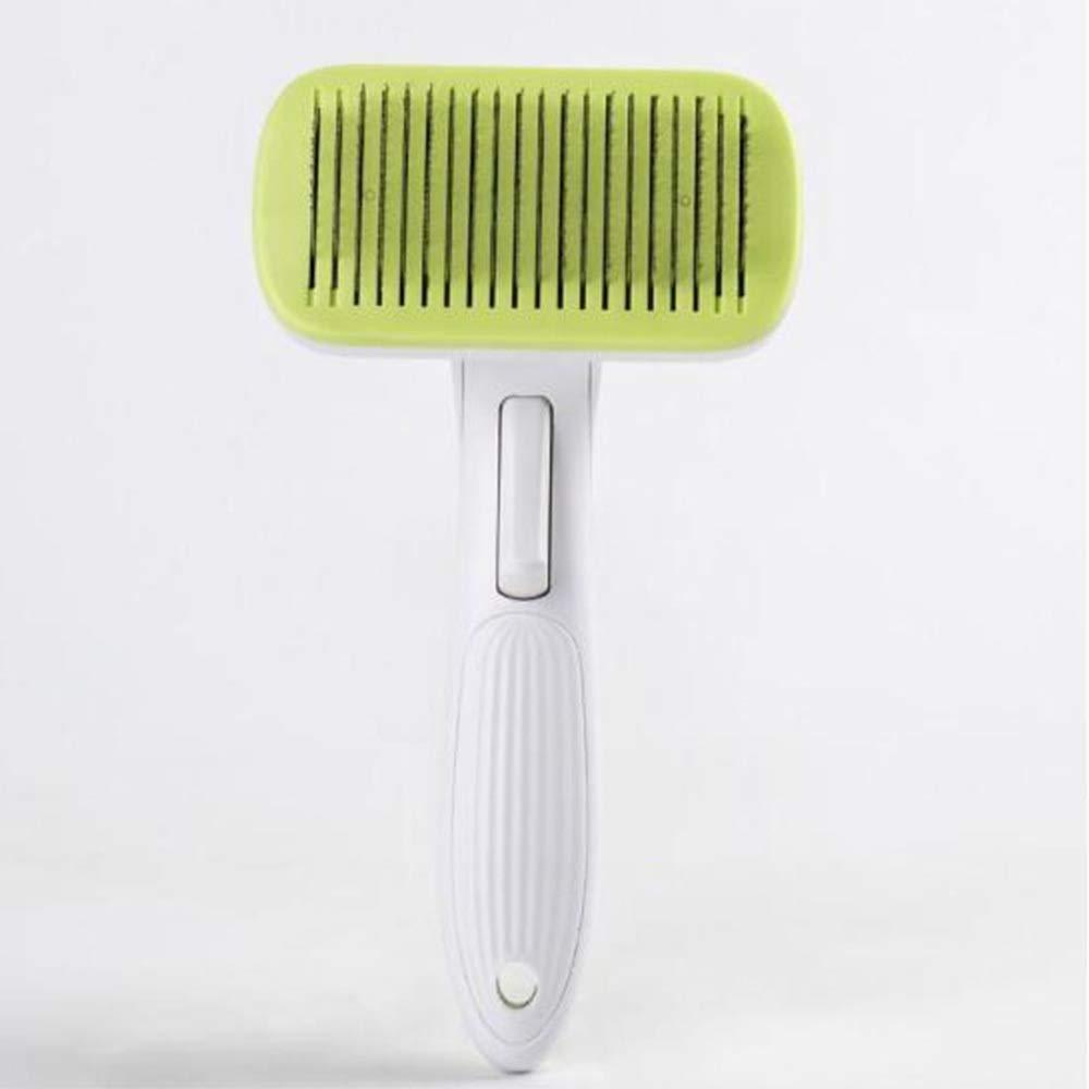 Samuknight Pet Brush, Cat and Dog Comb, Massage Hair Removal Hair Removal Comb Comb, 4 Colors Pet Grooming Tools (Color : Yellow) by Samuknight