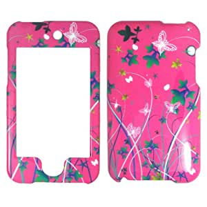 Apple Ipod Touch 2 / 3 PINK STARS BUTTERFLY FLOWER Case Cover Snap on Faceplate