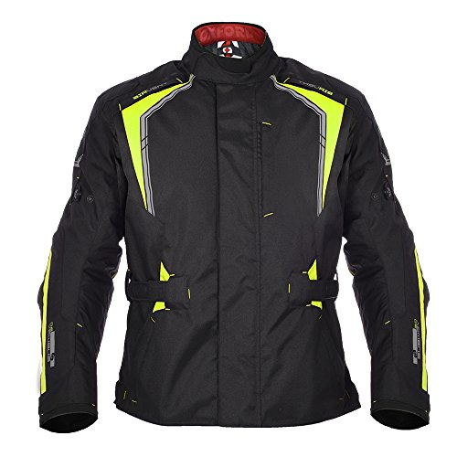 Oxford Subway 3.0 Mens Long Waterproof Textile Motorcycle Jacket - Black/Fluo L