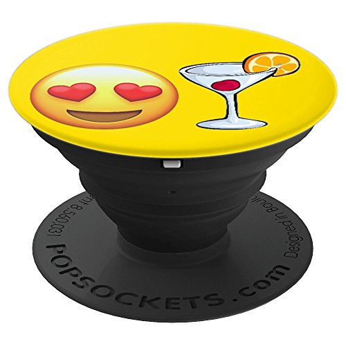 Emojicon Heart Love Spirit Drinks Alcohol Phone Holder Grip - PopSockets Grip and Stand for Phones and Tablets -