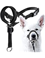 GoodBoy Dog Head Halter with Safety Strap - Stops Heavy Pulling On The Leash - Padded Headcollar for Small Medium and Large Dog Sizes - Head Collar Training Guide Included (Size 2, Black)