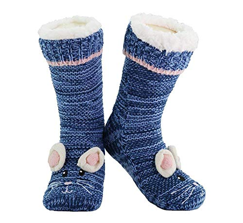 Slipper Socks 3d Novelty Cute Animal Thick Knitted Extra Warm Slippers &...