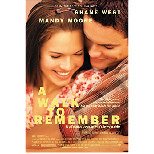 - A Walk to Remember 8 Inch x 10 Inch Photo Shane West Plaid Shirt & Mandy Moore Floral Dress Heads Together Smiling Movie Poster kn