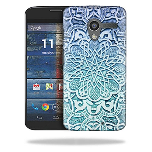 MightySkins Snap-On Protective Hard Case Cover for Motorola Moto X (1st Gen 2013) Carved Blue