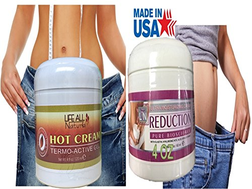 American Hot Cream & Cold Gel Combo 4 Oz Body Fat Burner Weight Loss Slimming
