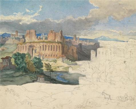 Jewel In The Palace Costume ('The Ruins Of The Imperial Palaces In Rome,1831 By Carl Rottmann' Oil Painting, 12x15 Inch / 30x38 Cm ,printed On Perfect Effect Canvas ,this Imitations Art DecorativePrints On Canvas Is Perfectly Suitalbe For Gym Artwork And Home Decoration And Gifts)
