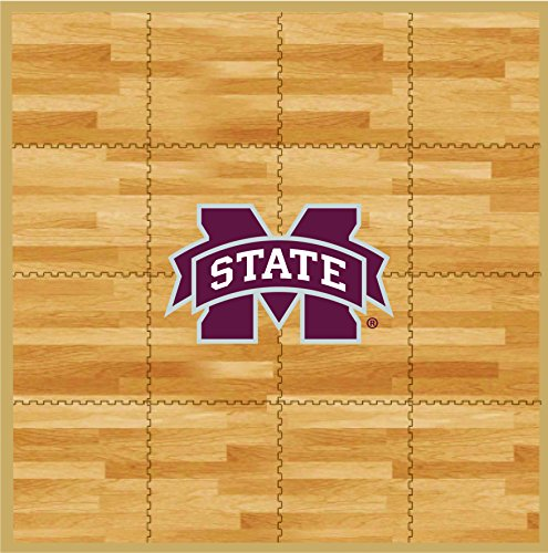 Mississippi Tailgater Rug (Coopersburg NCAA Mississippi State Bulldogs Fan Floor, 8' x 8', Tan)