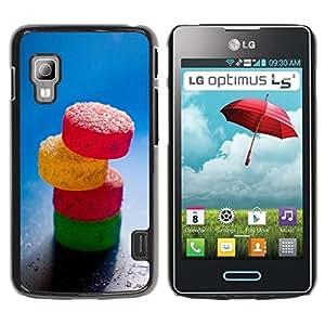 Be Good Phone Accessory // Dura Cáscara cubierta Protectora Caso Carcasa Funda de Protección para LG Optimus L5 II Dual E455 E460 // Sweet Candy