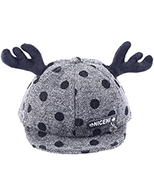 Wave Point Antlers Baby Unisex Peaked Cap Baseball Cap Truck Hat for Baby Boy and Girl 0-36 Month