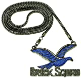 Brick Squad Iced Out 36 Inch Pendant Necklace Blue Dove/Gun Metal