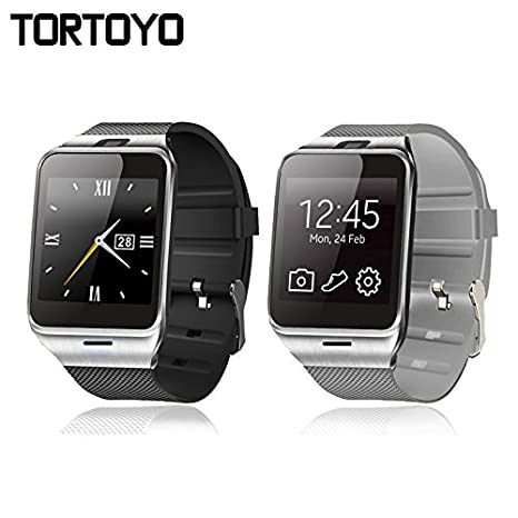 Amazon.com: tortoyo reloj inteligente GV18 Aplus Bluetooth ...