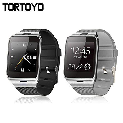 Amazon.com: TORTOYO Smart Watch GV18 Aplus Bluetooth ...