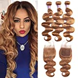 Best Hair Weave Blonde 3 Bundles - Aigemei 8A Honey Blonde Weave with Closure Body Review