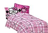 SANRIO Hello Kitty I Heart Nerd Microfiber Sheet Set, Full